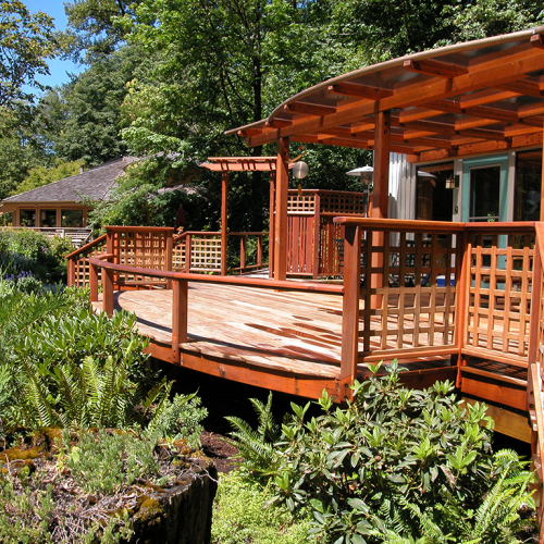 cantilever curved deck